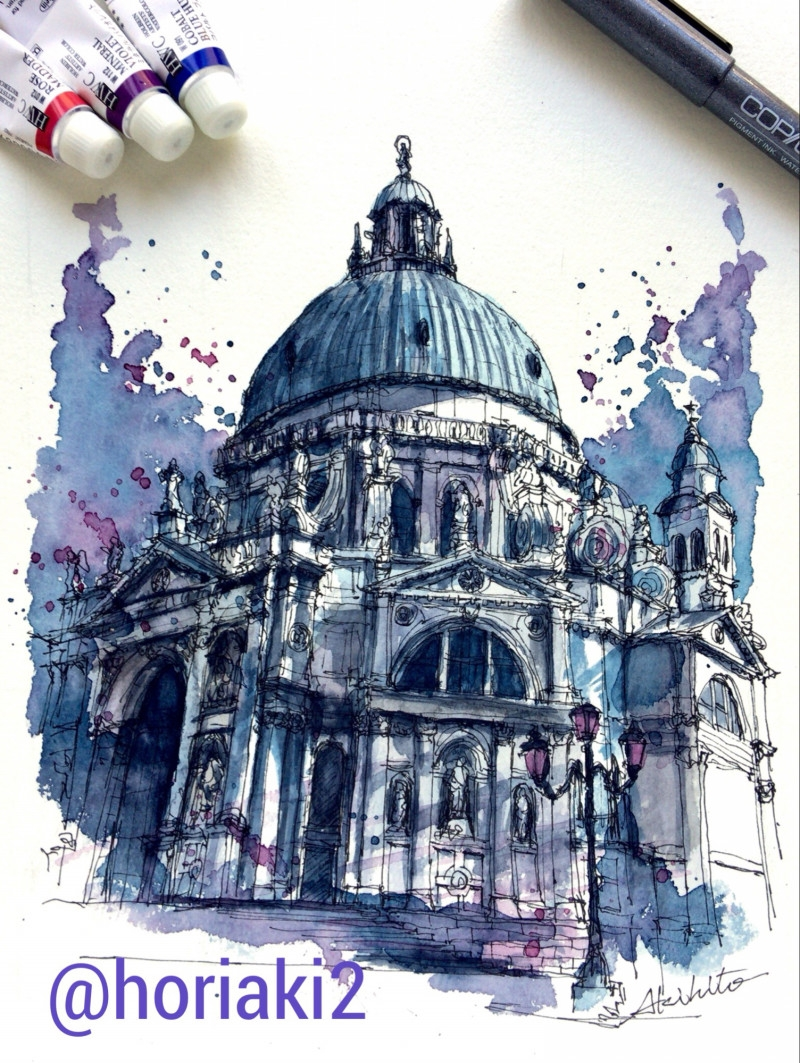 04-Venezia-Italy-Akihito-Horigome-Travelling-Drawing-and-Painting-www-designstack-co