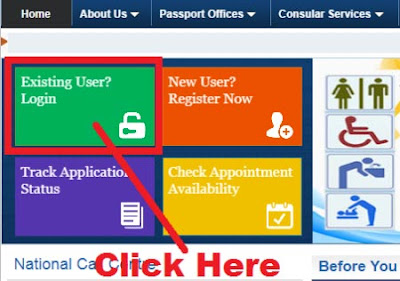 how to change appointment date passport seva