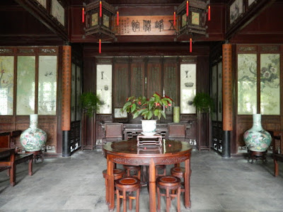 Sitting area at Lingering Garden Suzhou China by garden muses-not another Toronto gardening blog