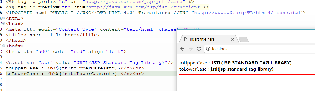 turtle: jstl function toUpperCase toLowerCase