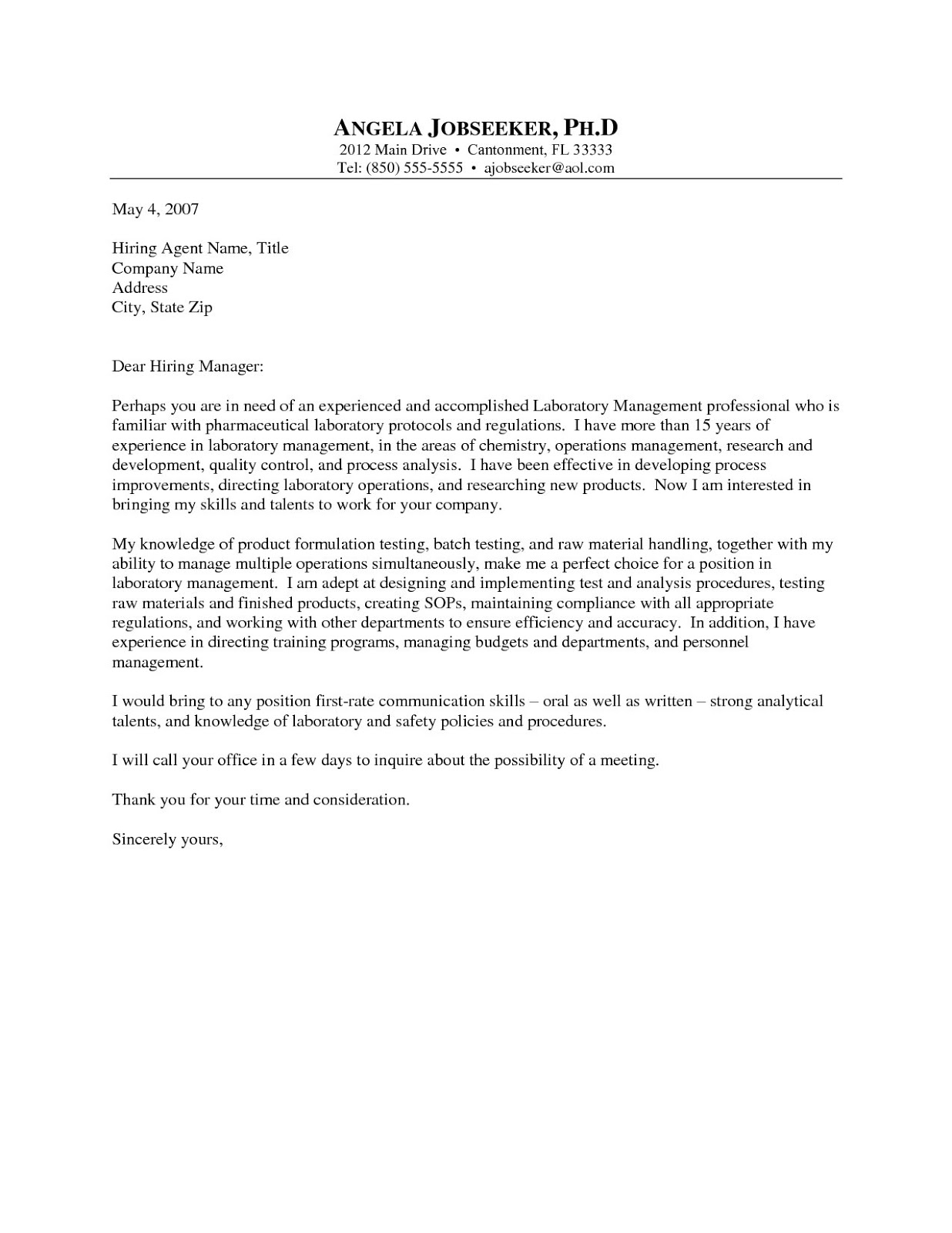 Cover Letter Page – Pages Cover Letter Template