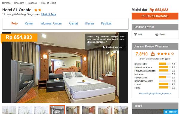 Cara Mudah Booking Hotel Singapore Murah Secara Online