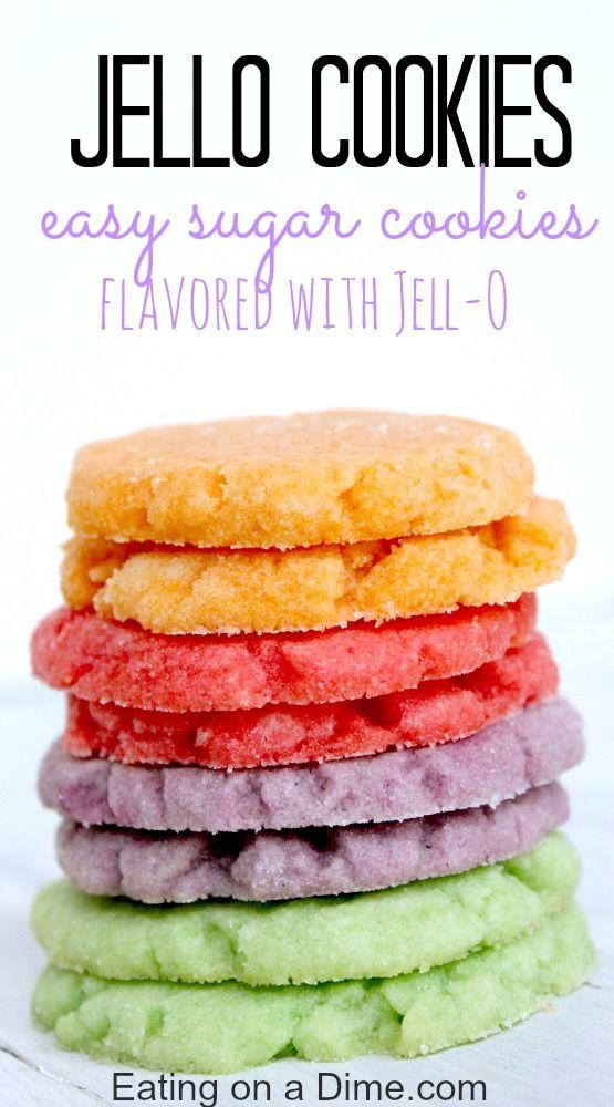 JELLO COOKIES RECIPE #jello #jellocookies #cookies #cookierecipes #easycookierecipes