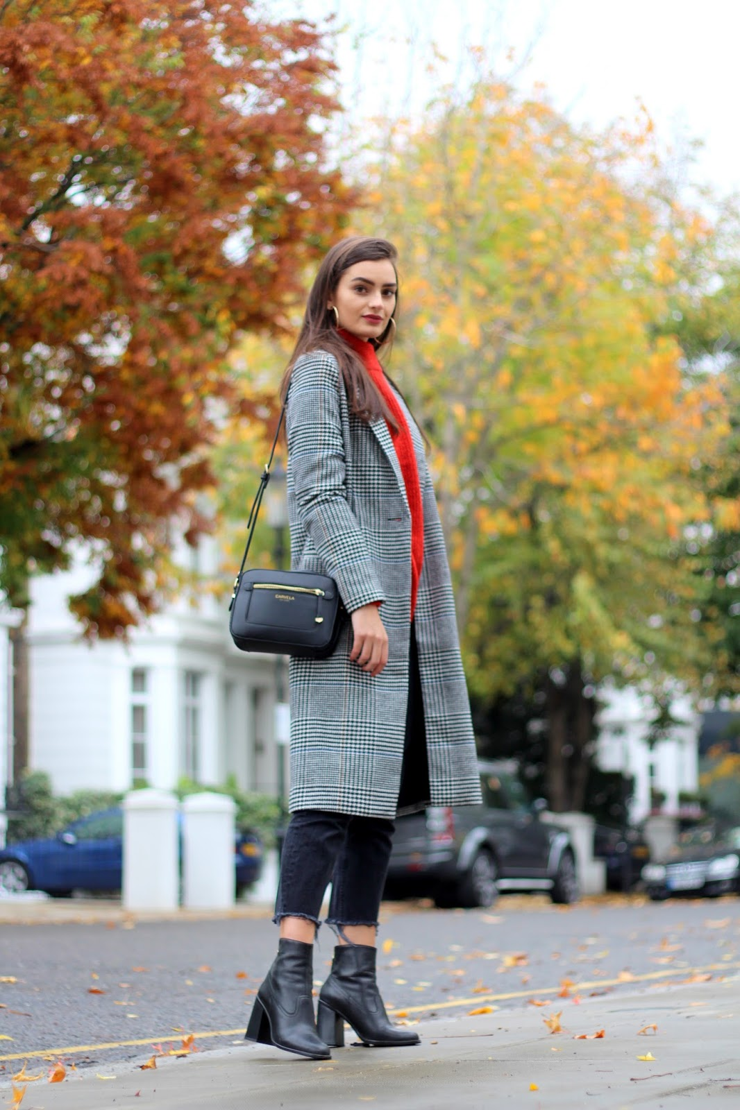 checked coat novermber autumn winter style peexo