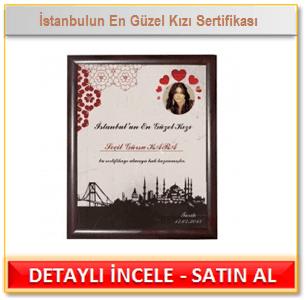 İstanbulun En Güzel Kızı Sertifikası