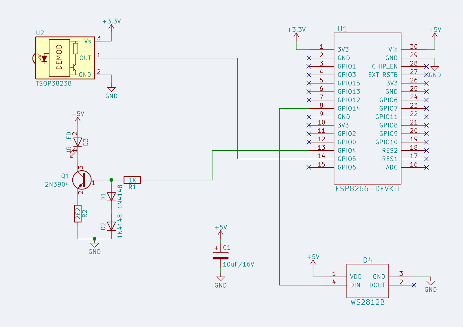 Silicon Junction Esp8266 Ir Transmitter Basic Infrared Circuit Schematic The