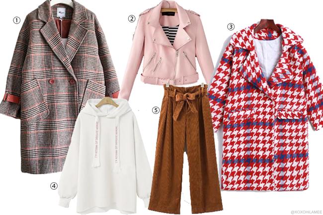 Japanese Fashion Blogger,MizuhoK,Wishlist for sammydress 2017-2018 winter アウター、セーター、コーデュロイパンツ