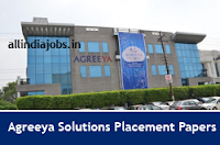 Agreeya Solutions Placement Papers