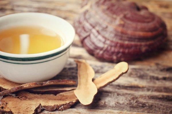 nấm linh chi nấu nước uống