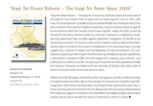 "The JAPCC has reviewed ""Iraqi AIr Power Reborn"""
