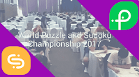 This is video from World Sudoku and Puzzle Championship 2017