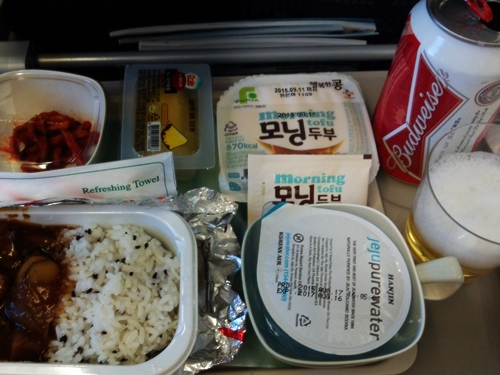 inflight beverage&meal korean air