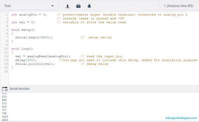 Analog Read Serial Simulation
