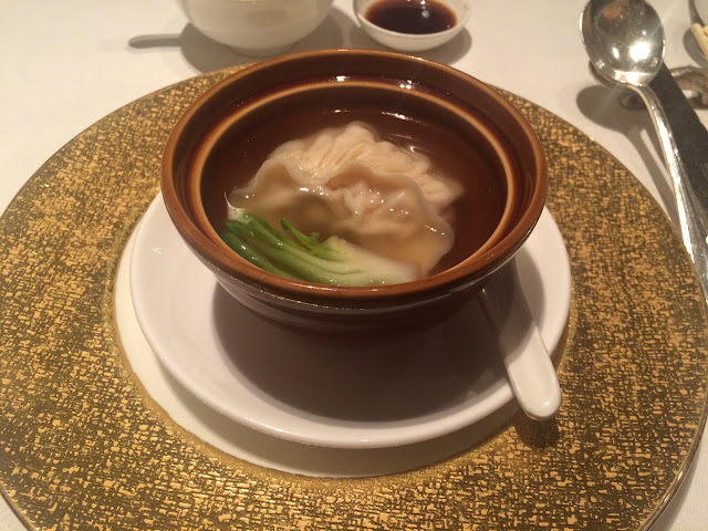 Crab meat dumpling in superior clear soup at Shang Palace, Shangri-La Paris