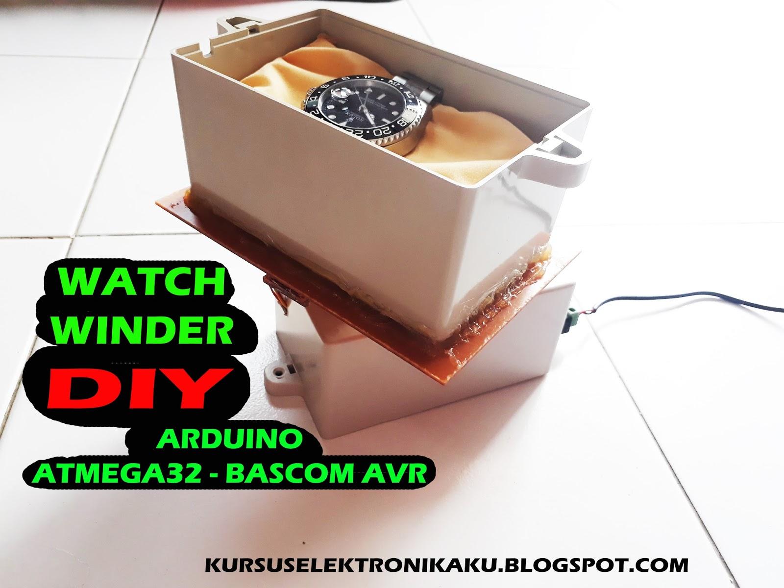 Membuat watch winder automatics pemutar jam tangan