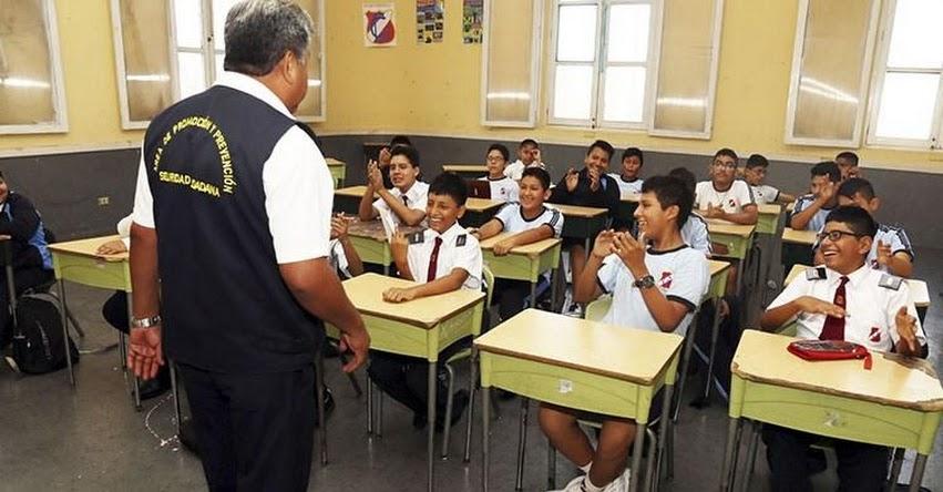 Lanzan plan «Escuela Prevenida Segura» en el cercado de Lima