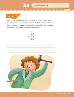 Apoyo Primaria Desafíos Matemáticos 2do Grado Bloque 2 Lección 33 La ferretería