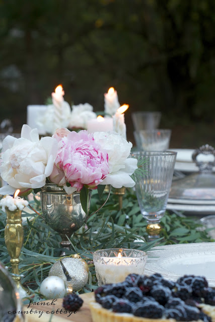 table styling with vintage silver trophies