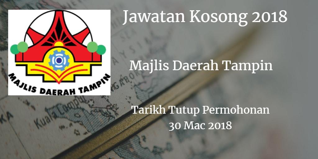 Jawatan Kosong MDTampin 30 Mac 2018