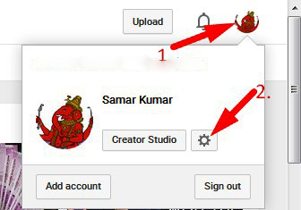 create multiple account in youtube