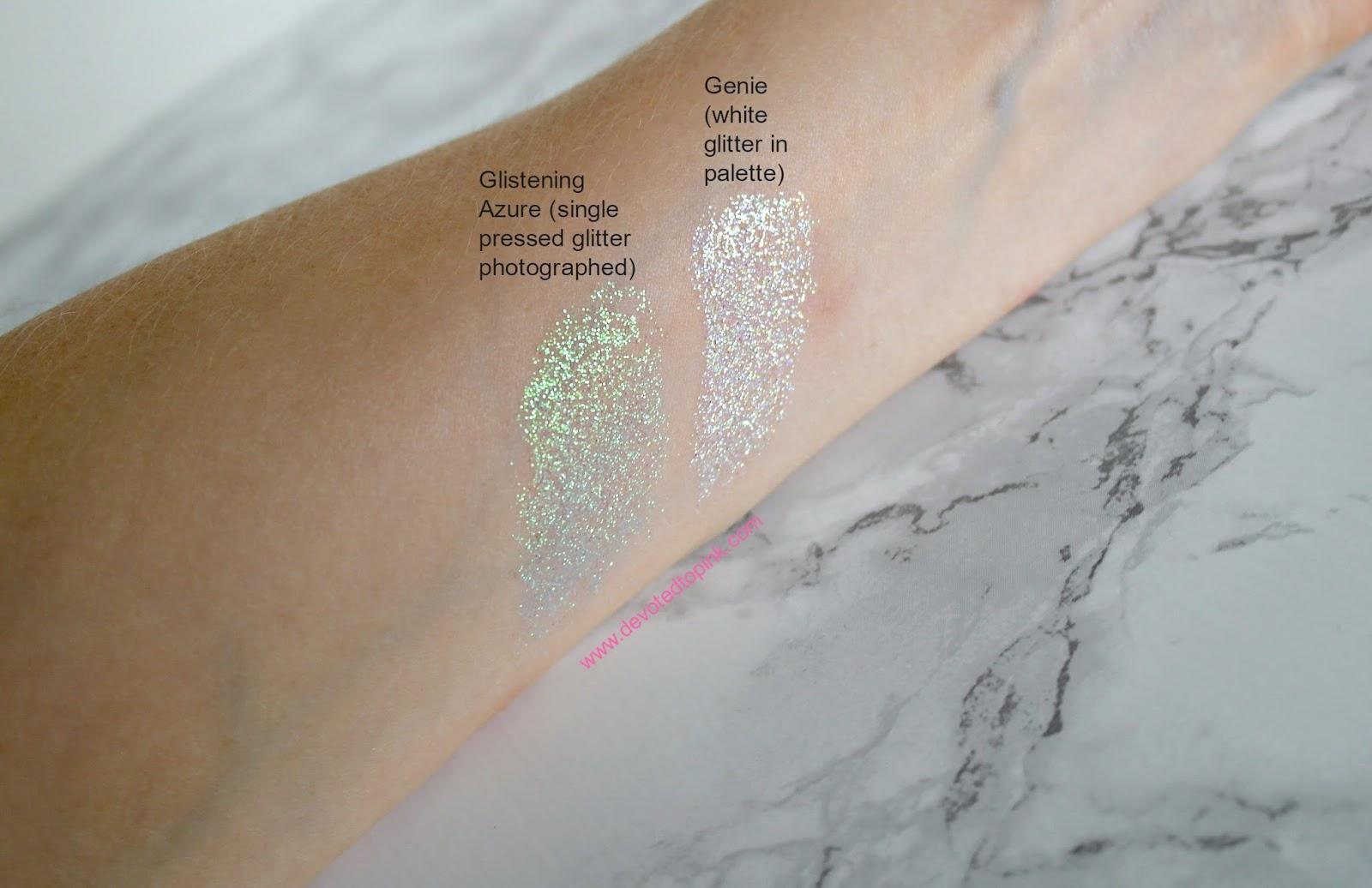glittereyes, niji cosmetics, glitter, review, swatches, glitter eyeshadow, glitter eyes