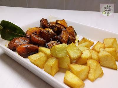 Zorza Vegetal o Picadillo de Chorizo Vegano con Patatas Fritas.