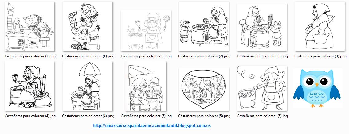 Dibujos De Castanas Para Colorear E Imprimir: Play & Learn: La Castañera/castanyera