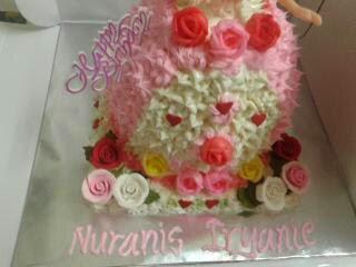 Masak Masak Di Dapurku Tempahan Barbie Doll Cake