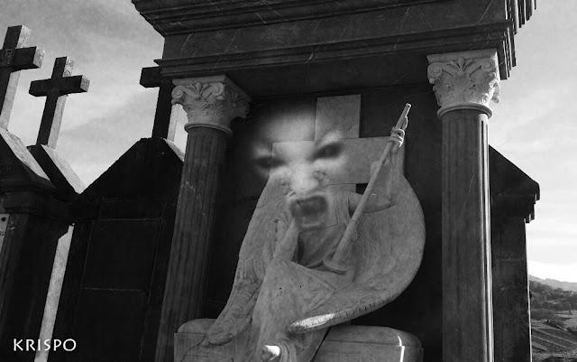 rostro de un ente maligno de panteon
