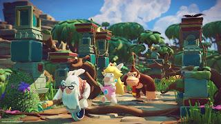 Mario + Rabbids DK PS Vita Wallpaper