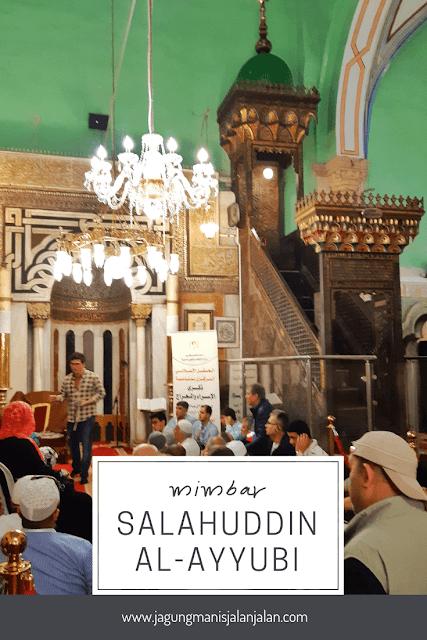 mihrab salahuddin al ayyubi di masjid ibrahimi hebron palestina