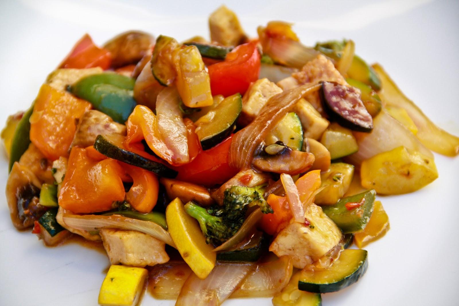 Tofu Veggie Stir Fry Vegan Gluten Free Vegetarian Gastronomy