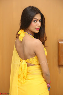 Nishigandha in Yellow backless Strapless Choli and Half Saree Spicy Pics 158.JPG