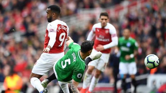 Hasil Liga Inggris: Diimbangi Brighton, Arsenal Sulit Finis Empat Besar