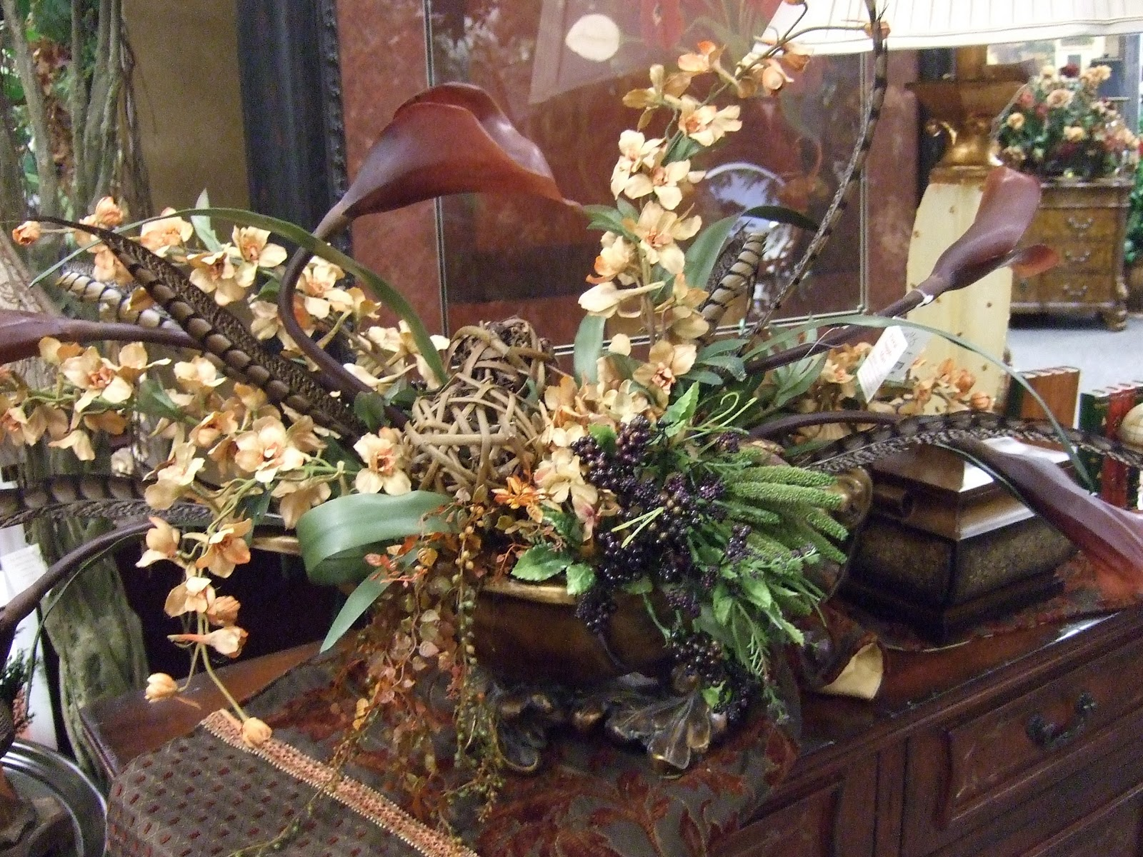 Ana Silk Flowers Brown Sage And Burgundy Silk Flowers Arrangements