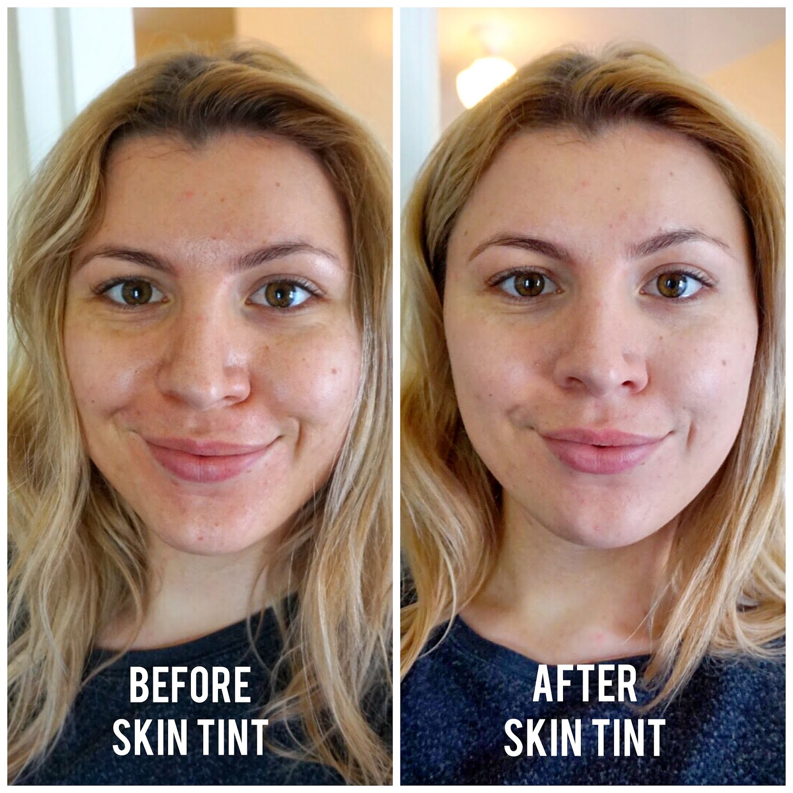 Glossier Perfecting Skin Tint Before & After