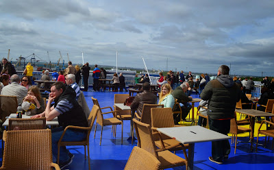 Roof bar on the top deck - DFDS Seaways