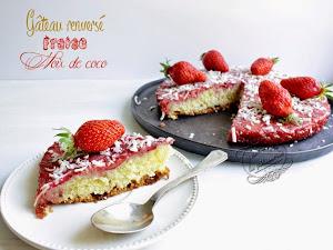 Gâteau renversé fraises et noix de coco