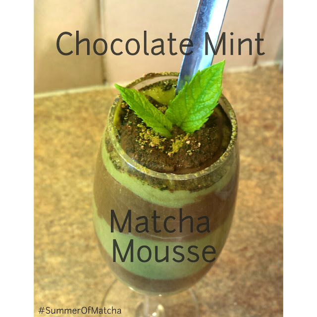 Chocolate Mint Matcha Mousse, #SummerOfMatcha