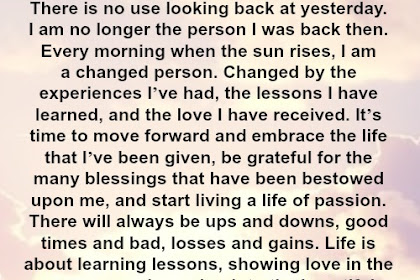 All The Sayings In The Category There Is No Looking Back Quotes On