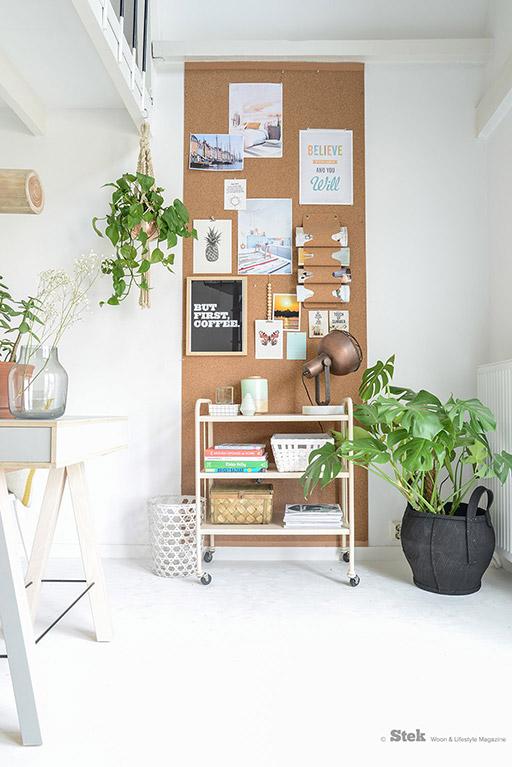 cork board wall inspiration