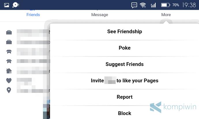 cara blokir orang lain di facebook