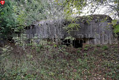 Четвертый бункер в Слуцком укрепрайоне. Орудийно-пулемётный полукапонир