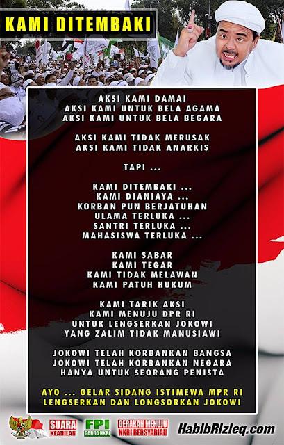 Mulai Makar, Habib Rizieq: Lengserkan dan Longsorkan Jokowi