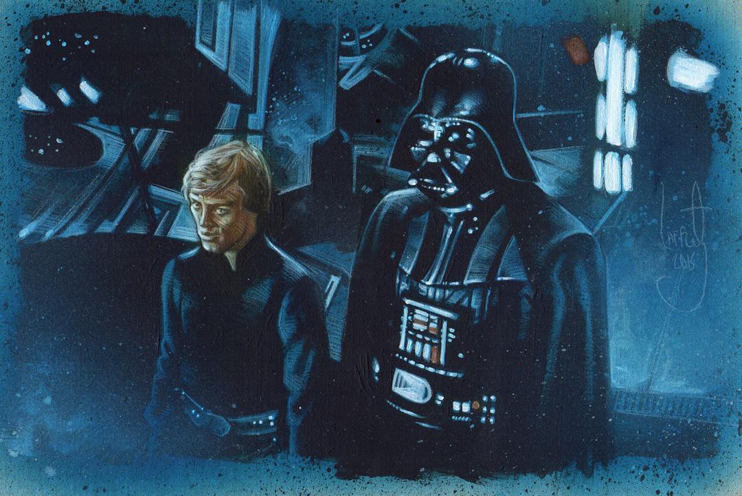 Darth Vader & Luke Skywalker Artwork is Copyright © 2015 Jeff Lafferty