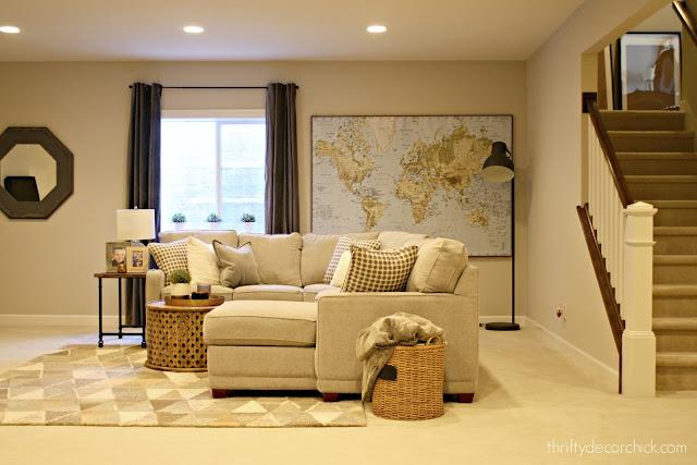 Basement family room decor ideas