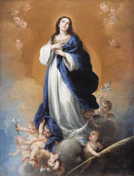 """""""A Imaculada Conceição"""" - Pintura de Bartolomé Esteban Murillo"""