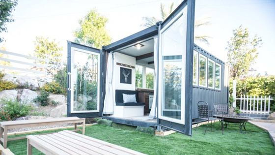 Shipping Container Guest House | 17 Cool Container Homes To Inspire Your Own