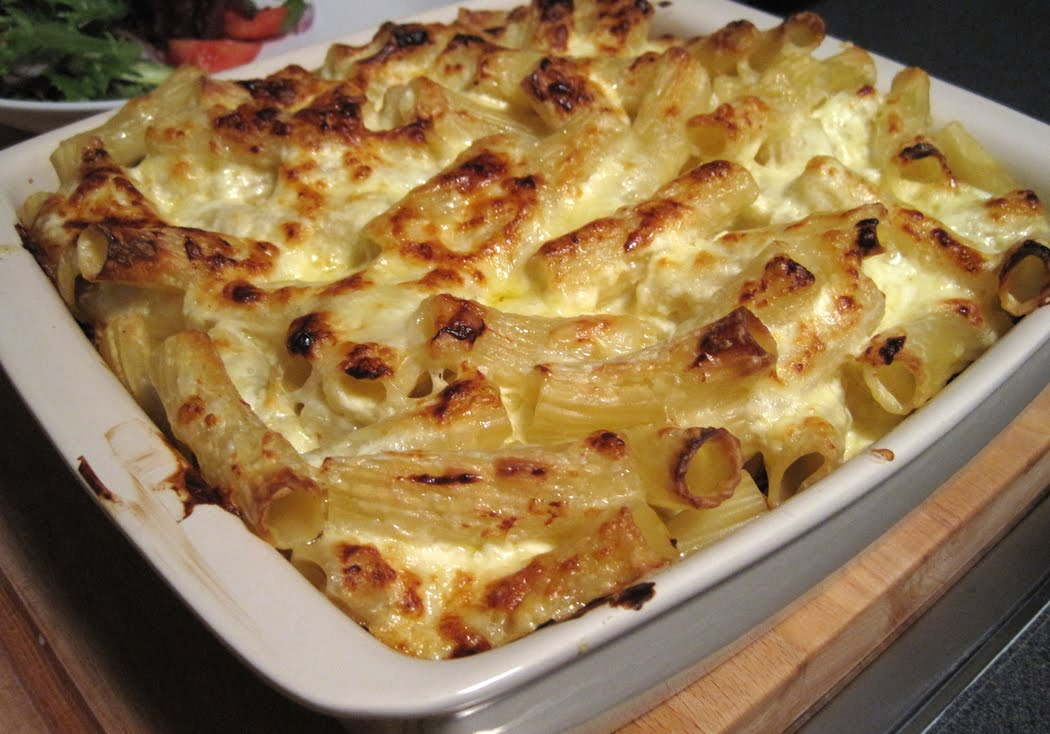 Chilli Beef Pasta Bake from the oven