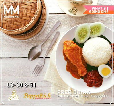 PappaRich Malaysia Free Drink Cham Coffee Tea Promo